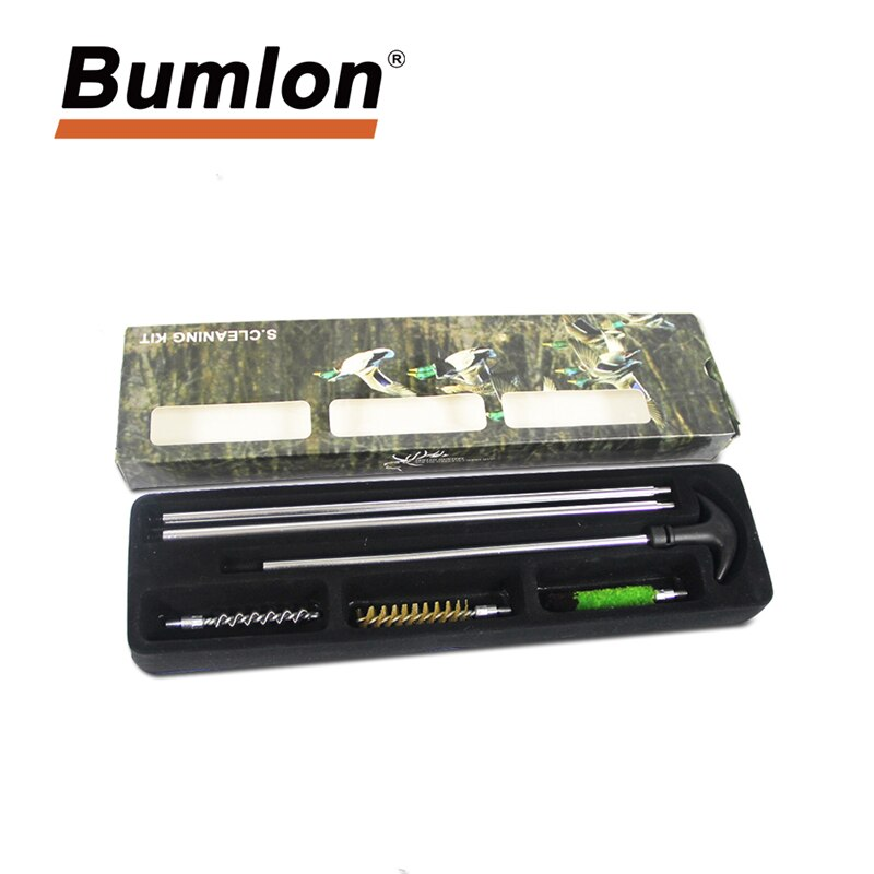 Bumlon Hunting Cleaning Kit for 12GA 16GA 20GA 41GA Universal Gauge Gun Rifle Aluminum Cleaning Brush Tool Hunting Accessories