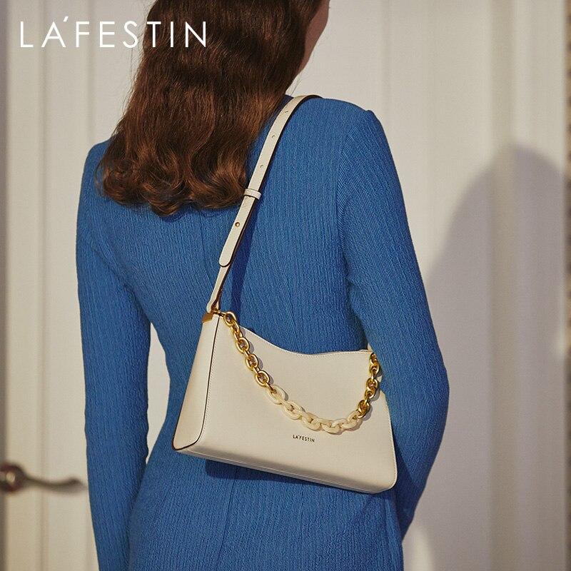 LAFESTIN Bag women 2020 new trendy fashion underarm baguette bag casual all-match chain shoulder messenger bag luxury designer