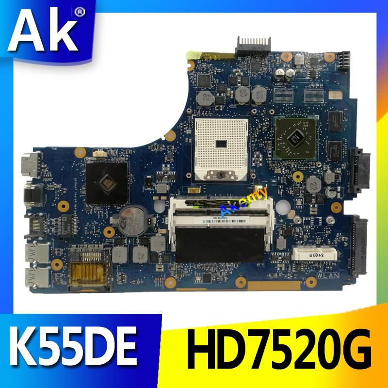 AK para Asus K55DR K55DE Placa base con HD7520G tarjeta de Video discreta