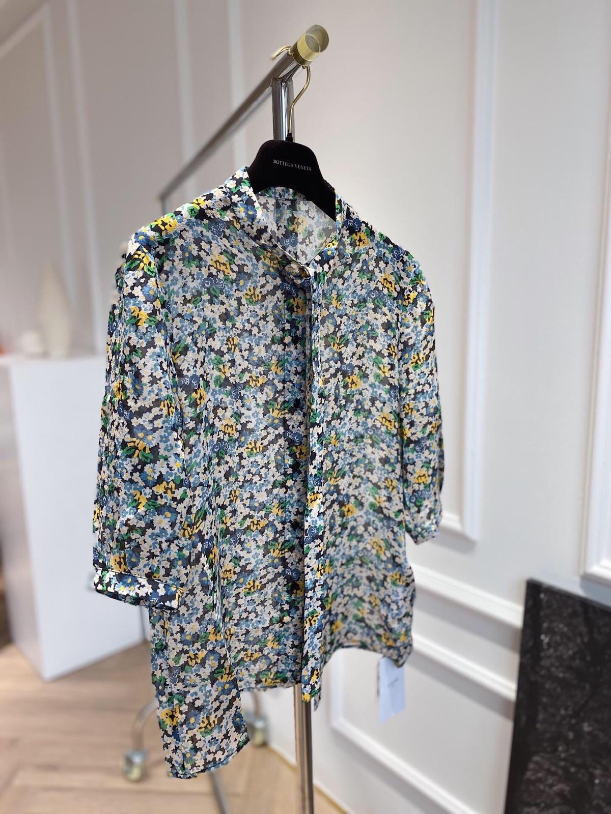 Bom Dia! Textura completa camisa de seda real tremendo temperamento chalaza pequeno suporte chumbo jaqueta sete parte manga dentro construir
