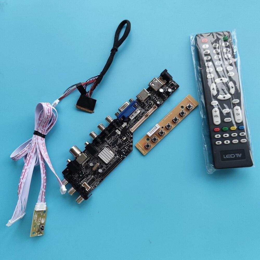 عدة ل B173HW02 1920x1080 VGA AV TV سائق مجلس LED USB HDMI-متوافق لوحة رصد dvb-t DVB-T2 تحكم رقمي