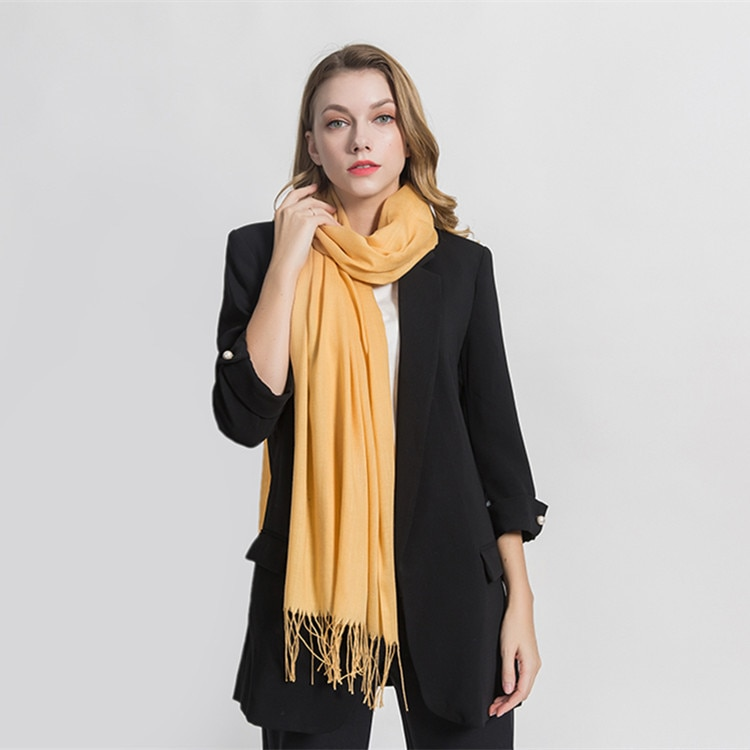 2021 autumn women scarf thin shawls and wraps lady solid female hijab stoles long cashmere scarves f