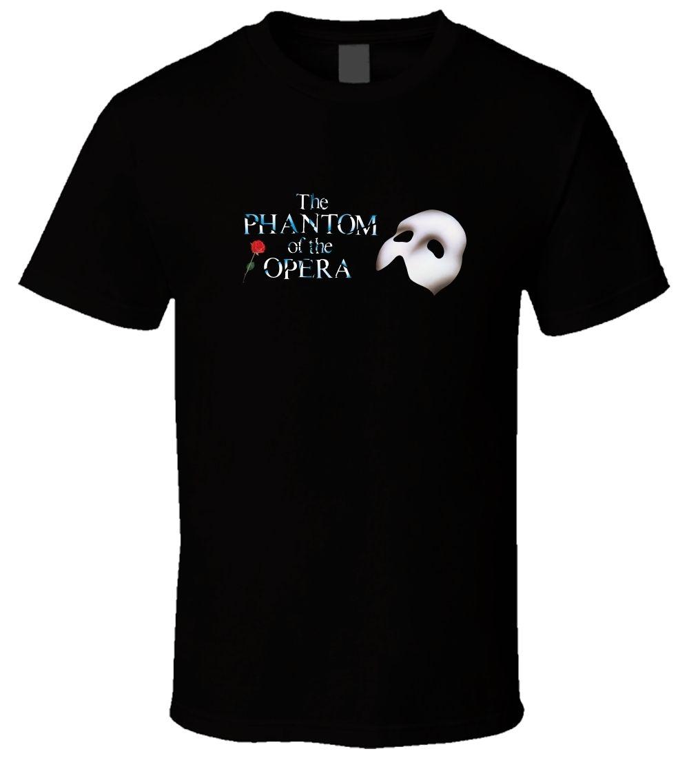 "Camiseta negra para hombre ""THE PHANTOM OF THE OPERA 1"" talla S-3XL para hombre Camiseta estampada de algodón de manga corta para hombre 2017 Nuevo"