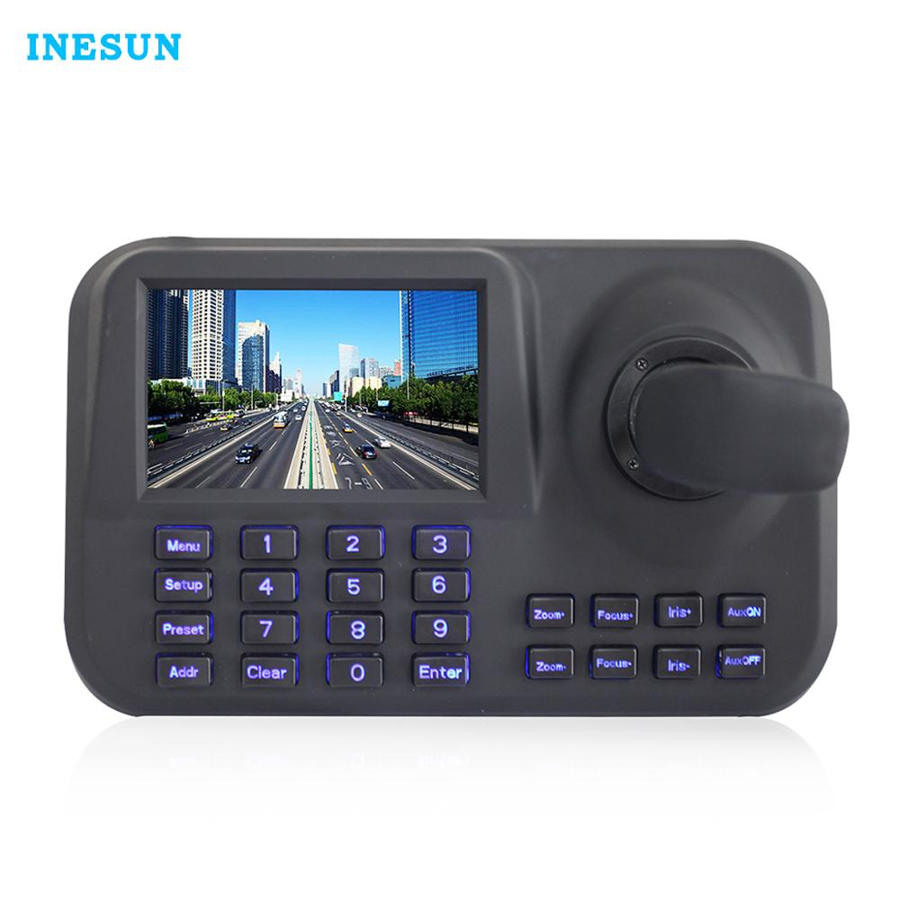Inesun Onvif CCTV IP PTZ 3D Joystick Network Keyboard  Controller With 5 inch HD LCD Screen For camera