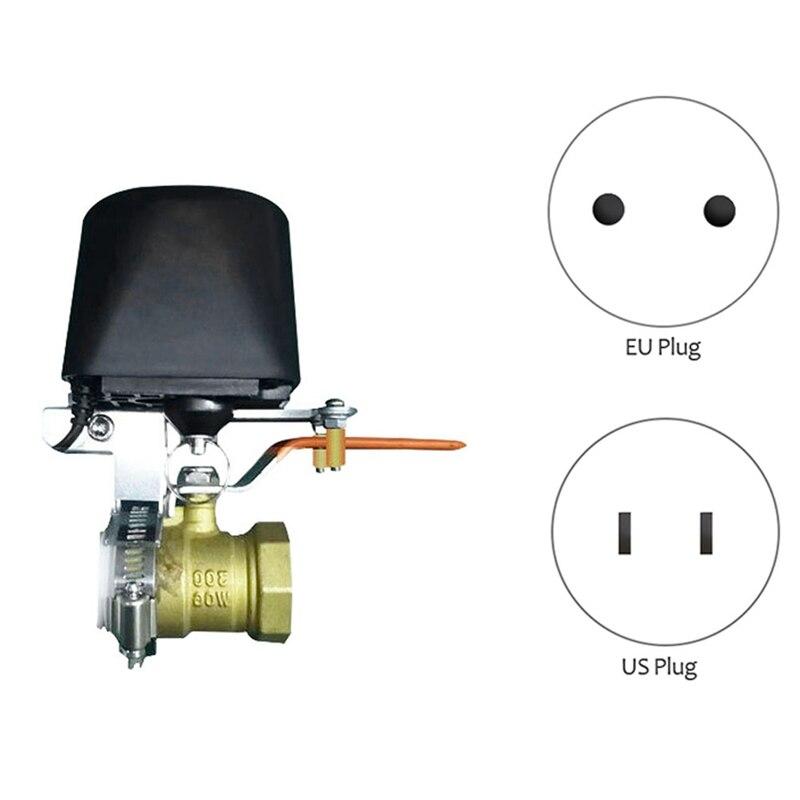 ZigBee-صمام بخار يدوي ميكانيكي ذكي ، زر تحكم عن بعد مع تطبيق Tuya