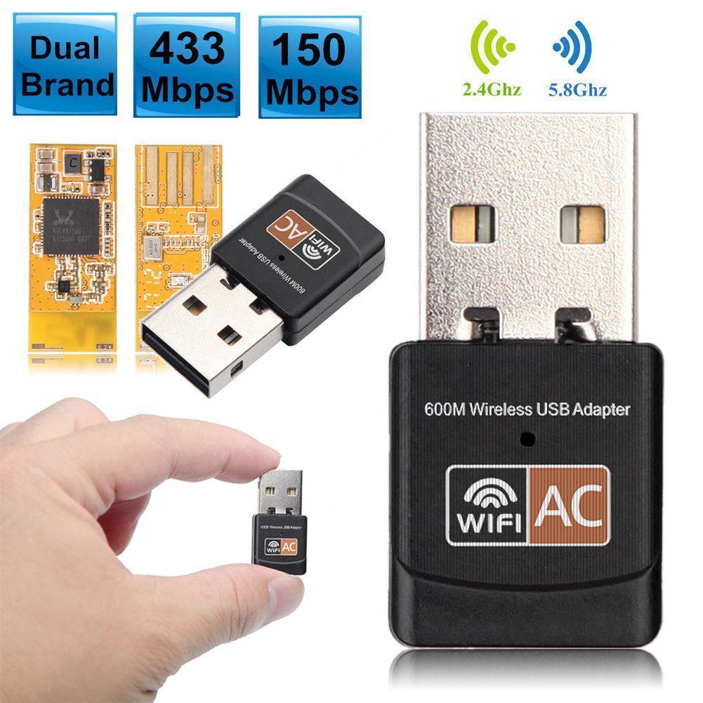 Adaptador de wifi 600 mbps adaptador de usb Wi-Fi adaptador Wi-Fi 5...