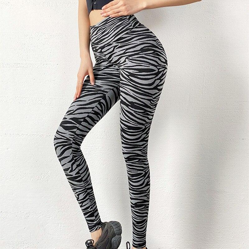 Mallas De Leopardo Para Mujer, Pantalones Elásticos De Cintura Alta Para Entrenamiento...