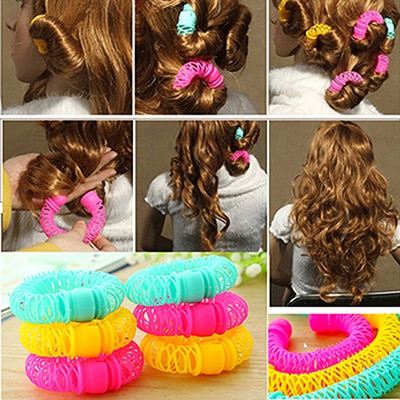 8/5 Pcs Magic Curler Hair Rollers Curls Roller Lucky Donuts Curly Hair Styling Make Up Tools Accesso