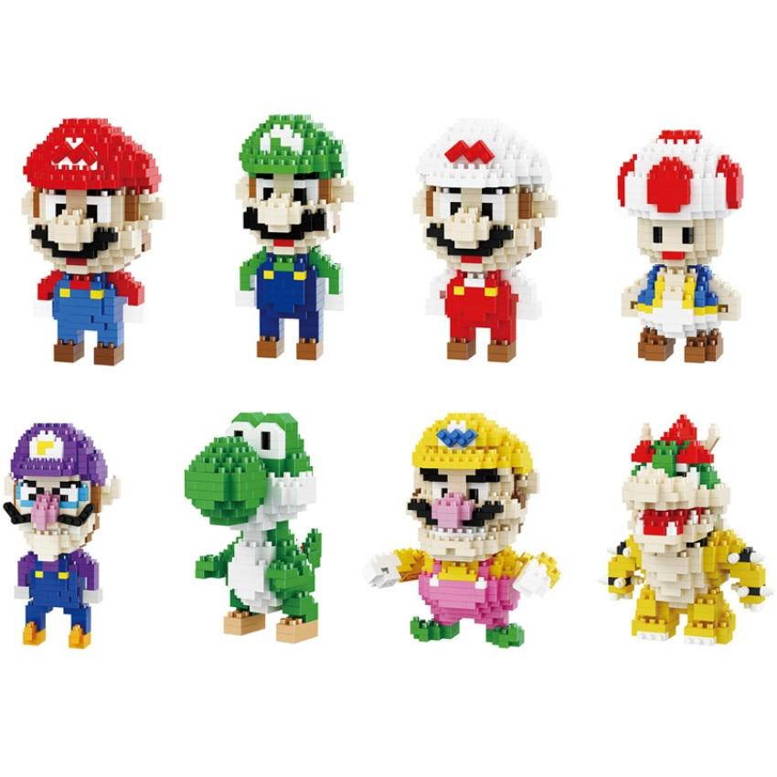 New Creator MINI  Super Mario Bros Figure Block Building Set Classic Game Model Toys Gift toys for children
