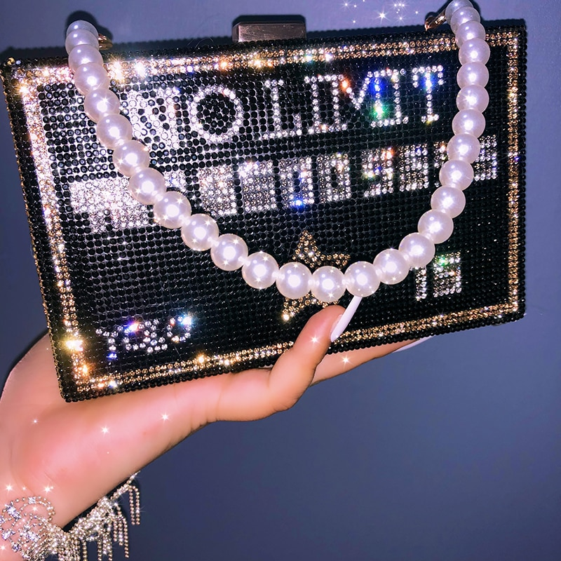 AliExpress - Bling Money Purses and Handbags for Women Luxury Designer Rhinestone Diamond Evening Clutch Bag for Wedding Party ZD2101