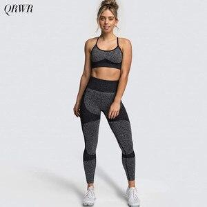 Seamless Yoga Set Women Fitness Sportswear High Waist Seamless Leggings Sports Bra Women Workout Running Clothes Gym Set Women
