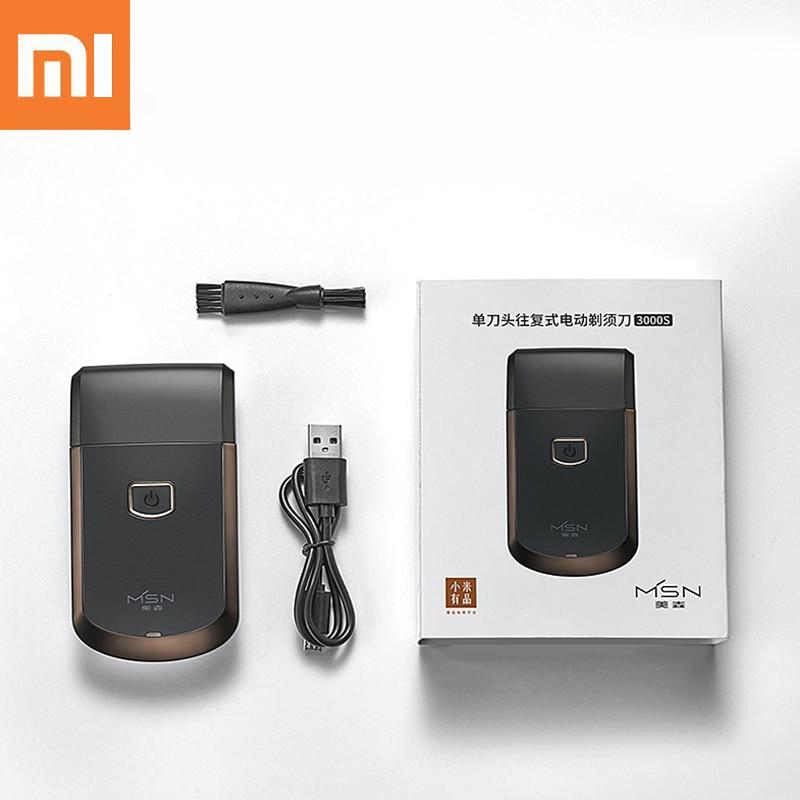 Afeitadora eléctrica Xiaomi MSN para hombres, afeitadora de barba recíproca, cortadora de barba recargable por USB, afeitadora sin cable para el cuidado de la cara