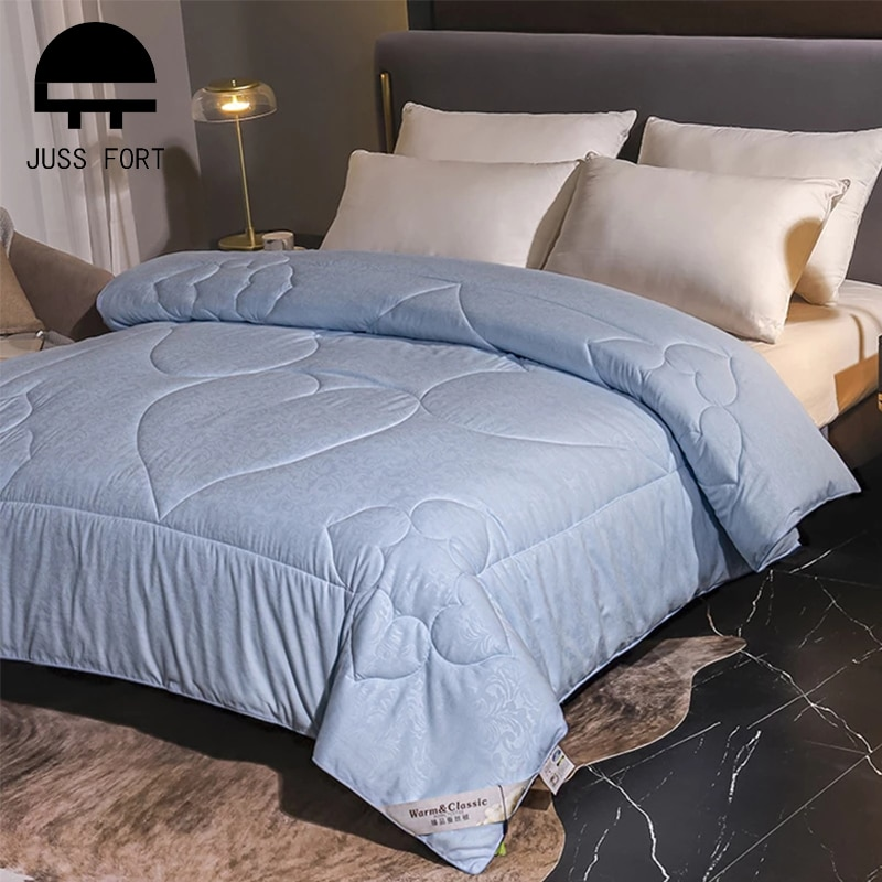 New 100% Silk Duvets Four seasons Universal Heart print Warm quilt for king queen twin size Handmade bedding Quilting Comforter