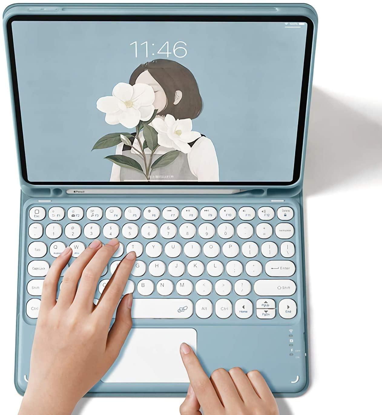 Case de Teclado Ipad Case 11 2021 ar 4 3 Teclado Mágico Bluetooth Touchpad Capa 10.2 10.9 Pro