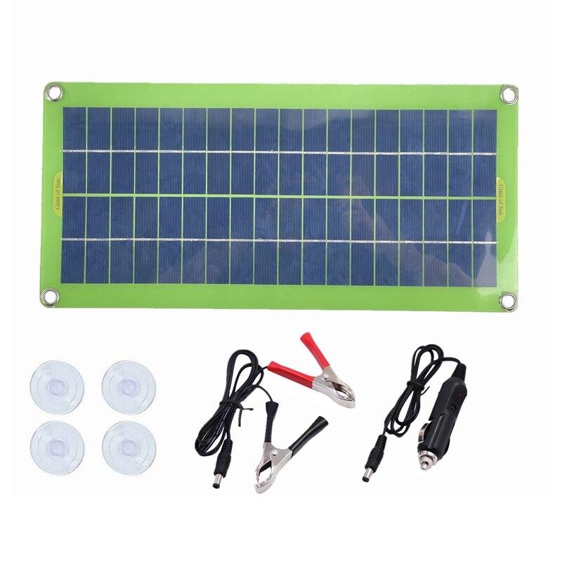 لوح طاقة شمسية عالي الكفاءة محمول 100 وات 12 فولت 5 فولت لسيارة الهاتف ، لوح طاقة شمسية مرن للسيارات في حالات الطوارئ الشحن