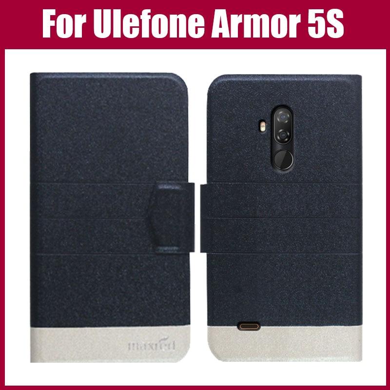 ¡Gran oferta! Funda protectora para teléfono Ulefone Armor 5S 5 colores Flip ultrafina moda cuero funda protectora para Ulefone Armor 5S
