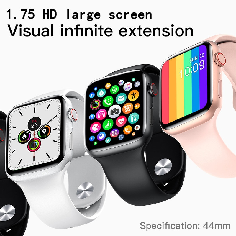 W26 برو بلوتوث Smartwatch 1.75 بوصة جهاز تعقب للياقة البدنية الرجال/النساء ساعة رياضية مراقب معدل ضربات القلب ضغط الدم سوار ذكي