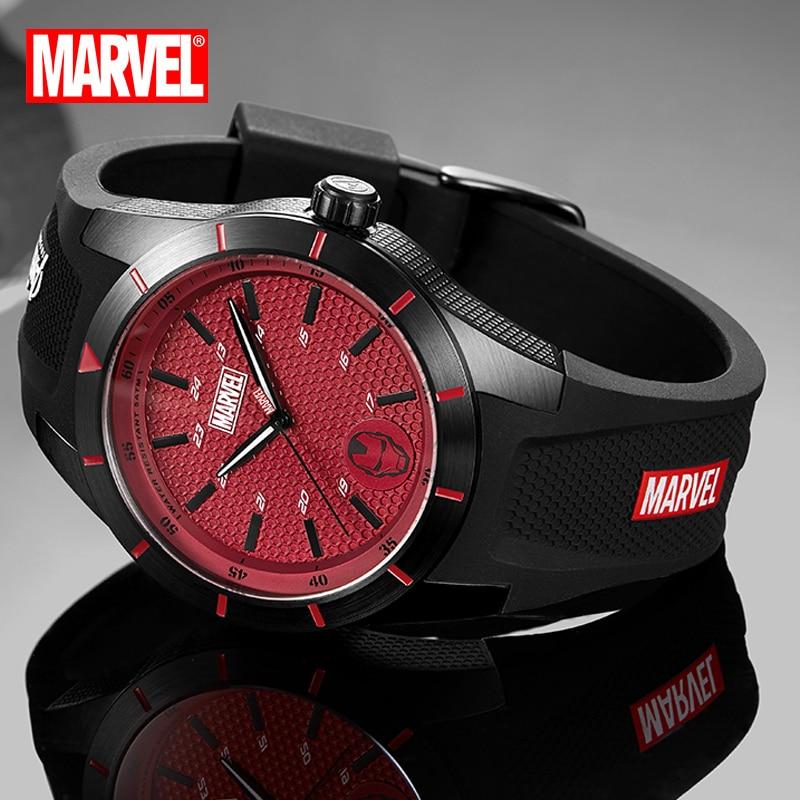 Disney Marvel Official Fashion Casual Quartz Wristwatches Capitain America Iron Man Cartoon Date Crystal Glass Luminous Hands enlarge