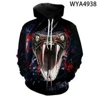 new 3d print hoodies horror snake men women children streetwear pullover fashion funny cool boy girl kids sweatshirts