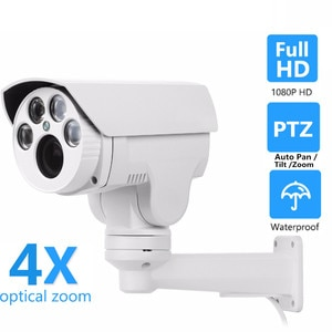 HD 5MP/2MP IP Camera PTZ 4X/10X Auto Pan /Tilt /Zoom Surveillance Security Camera Night Vision IR-CUT Onvif iPhone/Android View