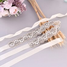 S456 Shiny Silver Rhinestones Wedding Dress Belt Wedding Accessories Belts for Women Important Occas
