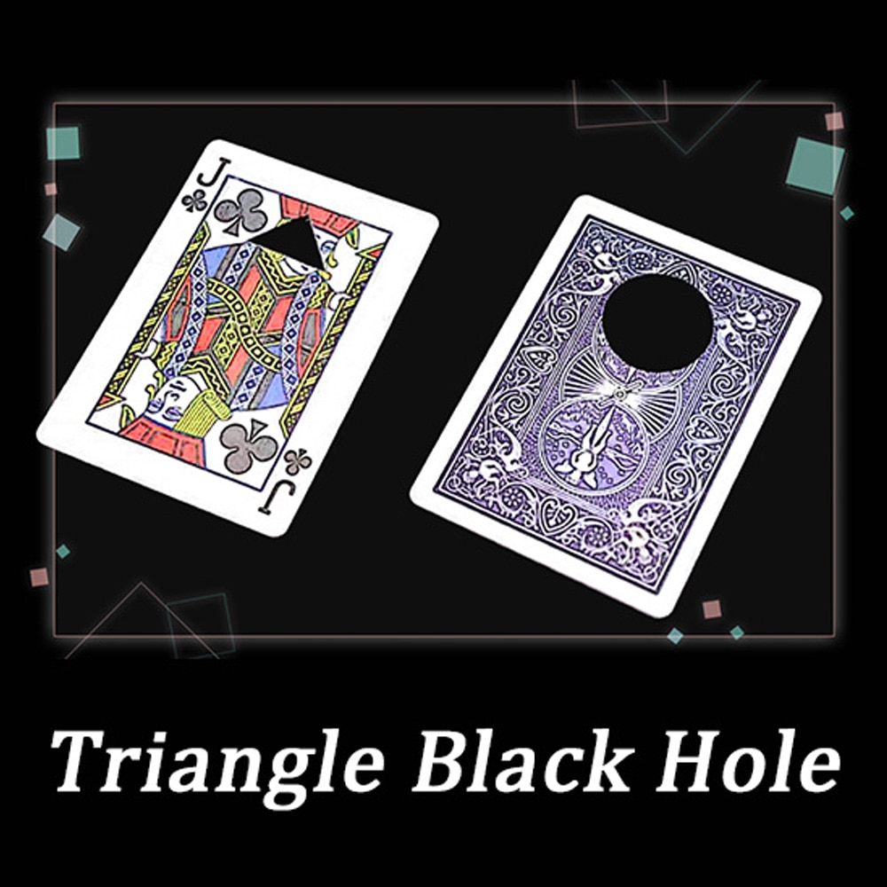 Triangle Black Hole Magic Tricks Stage Close Up Magia Playing Card Magie Mentalism Illusion Gimmick Props trucos de magia digital dissolve morgan version magic tricks stage close up magie coin visually change magie gimmick props trucos de magia