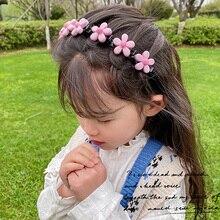Diademas trenzadas con doble flequillo para niña, diademas con flores bonitas, accesorios para el cabello, 2021