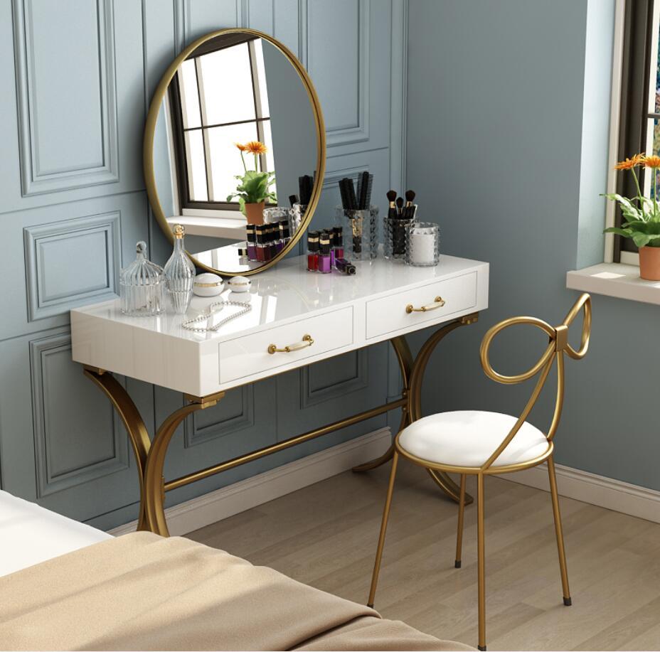 Скандинавский минималистичный туалетный столик для спальни маленькой квартиры, простой многофункциональный туалетный столик из массива д...