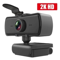 2k webcam hd 20401080p computer pc webcamera with microphone rotatable cameras for live broadcast video calling conference work
