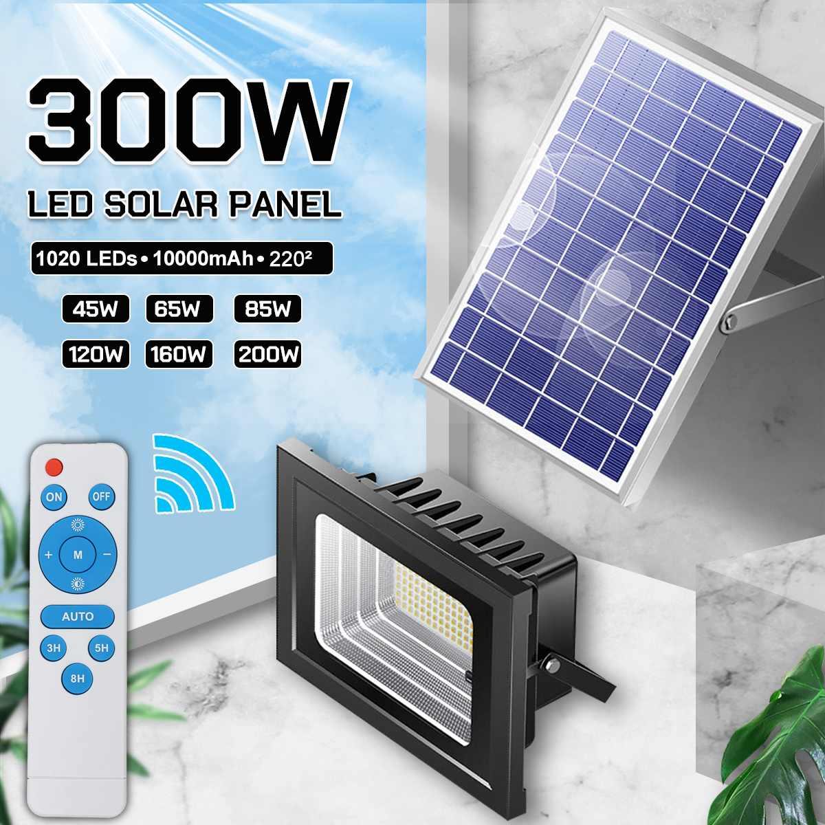 300/200/150/120W LED Flood Light Solar Street Lights Household Waterproof Remote Indoor and Outdoor Lighting Garden Wall Lamp