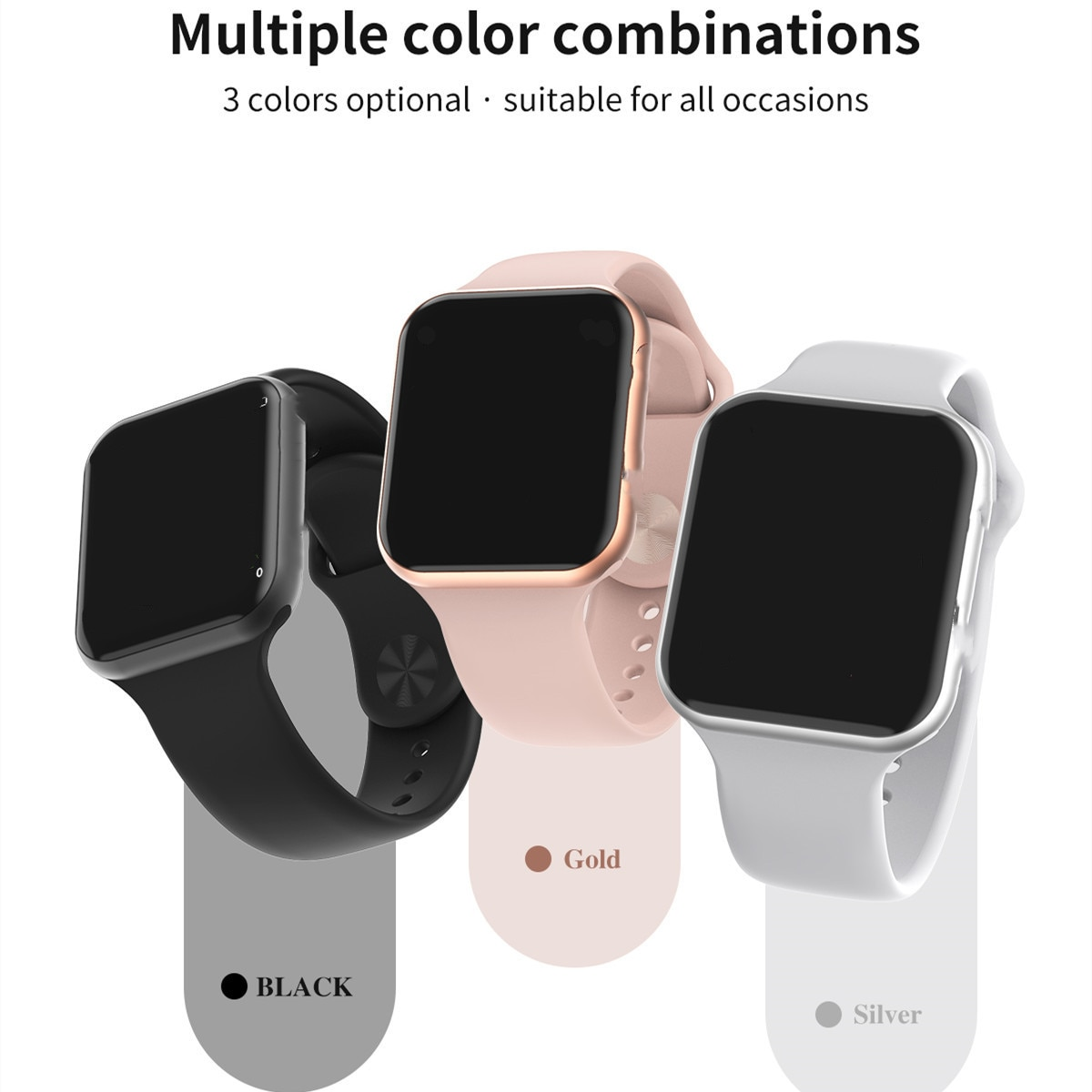 Reloj inteligente F10 IP68, Monitor de ritmo cardíaco resistente al agua, rastreador deportivo Bluetooth para hombres, para iPhone xiaomi Androidphone