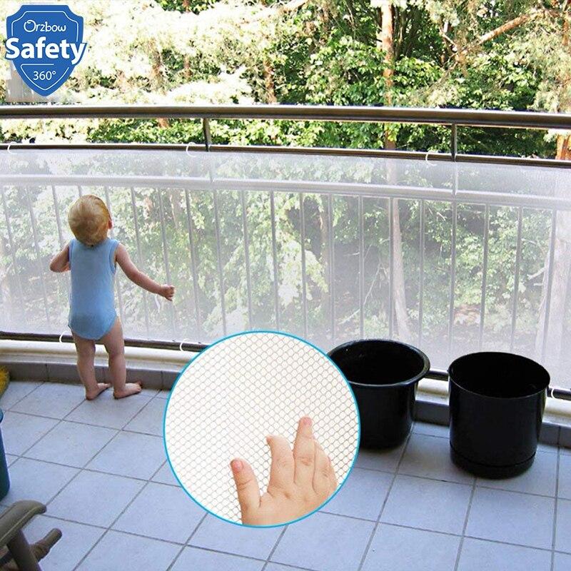 תינוק בטיחות מדרגות רכבת נטו ילדי הגנת גדר נטו עבור פעוט אבטחת תינוק הגהה מדרגות מרפסת מעקה מעקה משמר
