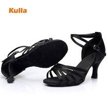 Femmes professionnel chaussures de danse latine pour salle de bal Tango Salsa Satin formation chaussures de danse pour dames/fille talon 5cm/7cm