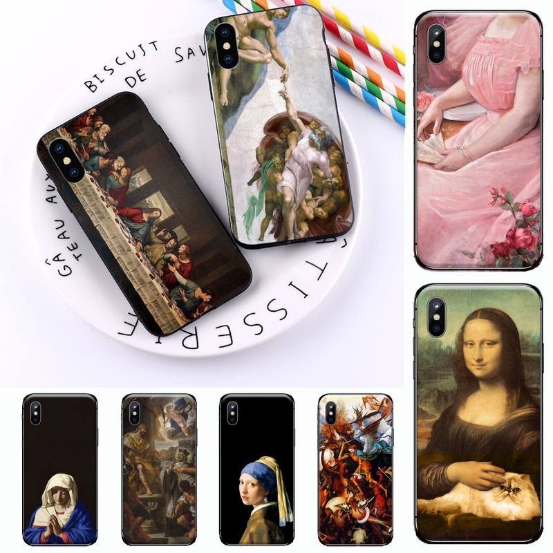 Famous painting Adorable art luxury design Phone Case shell for iPhone 11 12 mini pro XS MAX 8 7 6 6S Plus X 5S SE 2020 XR