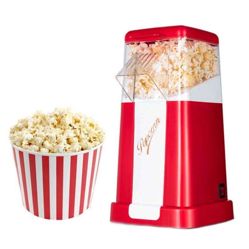 1PCS Automatic Hot Air Popcorn Machine No Oil Smoke Mini Small Corn Popcorn Maker Electric Popcorn Making Machine Kitchen Tools
