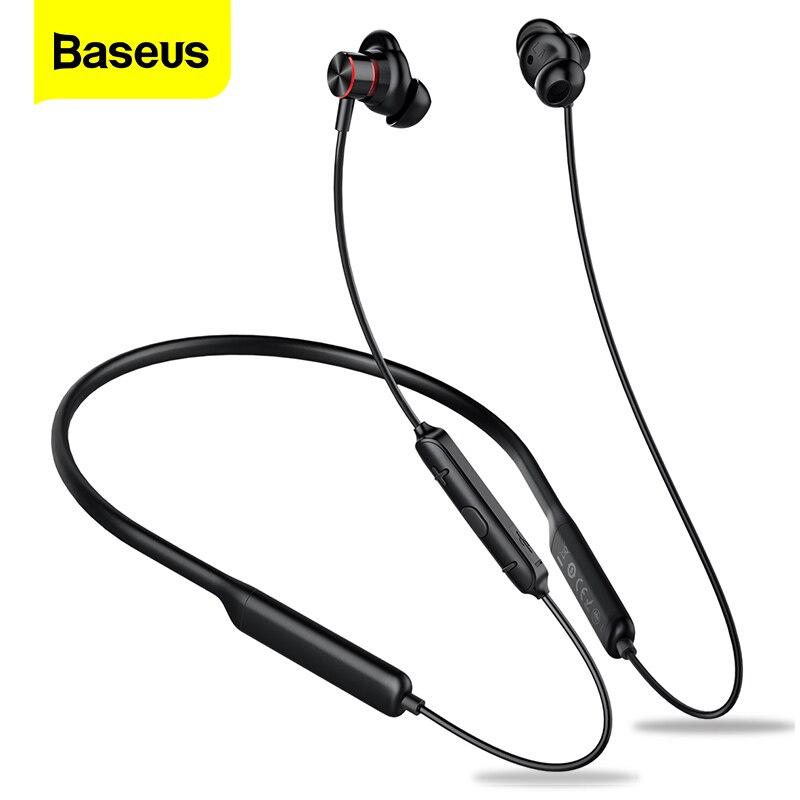 Baseus S12 Neckband Bluetooth Earphone Headphone For Phone Bluetooth 5.0 Wireless Earphones Bass Headset With Mic fone de ouvido