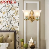 outela led indoor wall lamps brass modern luxury sconce fixture decorative for home bedroom living room dining room