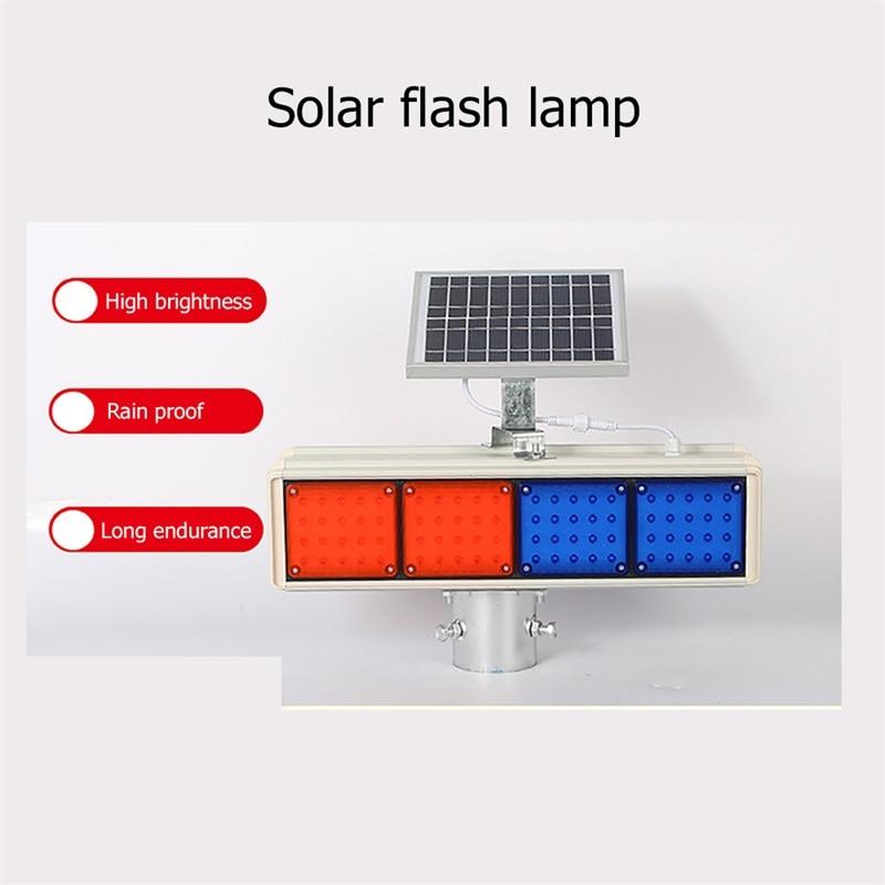 BRIGHT Solar Warning Lights Aluminum LED Strobe Flashing Light  Double Side Red And Blue Signal light enlarge