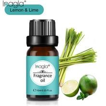 Inagla Citron et Citron vert 100% Aromathérapie naturelle Parfumée 10ml Pour Laromathérapie Diffuseurs Massage Soulager Le Stress Lair Frais