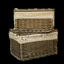 سلة الغسيل مع بطانة غطاء القذرة صندوق تخزين ملابس صندوق cesto خزانة منظم كبير كبير الاطفال الخوص لعبة علب تخزين wasmand