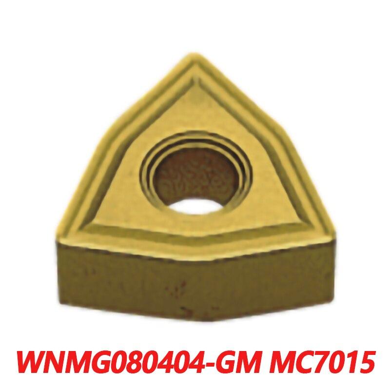 Inserção de Carboneto Original Wnmg 10 Pçs Cnc Torno Processamento Mecânico Garantia Qualidade 080404 100% Wnmg080404-gm Mc7015