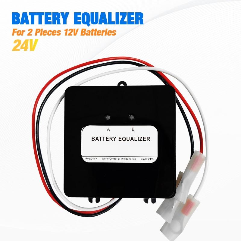 12/24V Batteries Voltage Balancer Lead Acid Battery Aharger Regulators Connected in series Solar Panel Cell