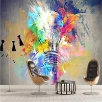 milofi factory custom wallpaper mural 3d colorful graffiti creative light bulb background wall decoration painting