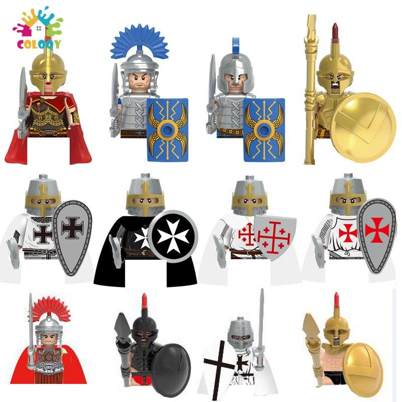 Детские игрушки, герой спартанского солдата, строительные блоки, мини Экшн-фигурки, кирпичи, история, развивающие игрушки для детей, рождест...