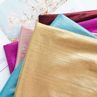 bright wire strip stretch knit bronzing fabric laser bright for sewing dress skirt by meters