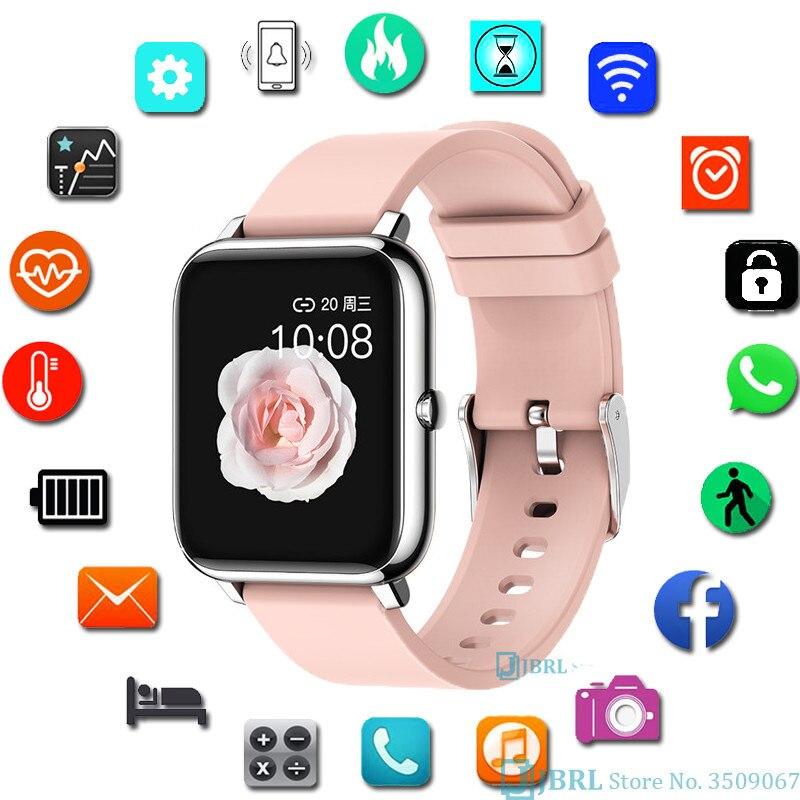 Модные полностью сенсорные умные часы, квадратные женские мужские спортивные часы, электронные женские наручные часы для Android Ios, умные часы...