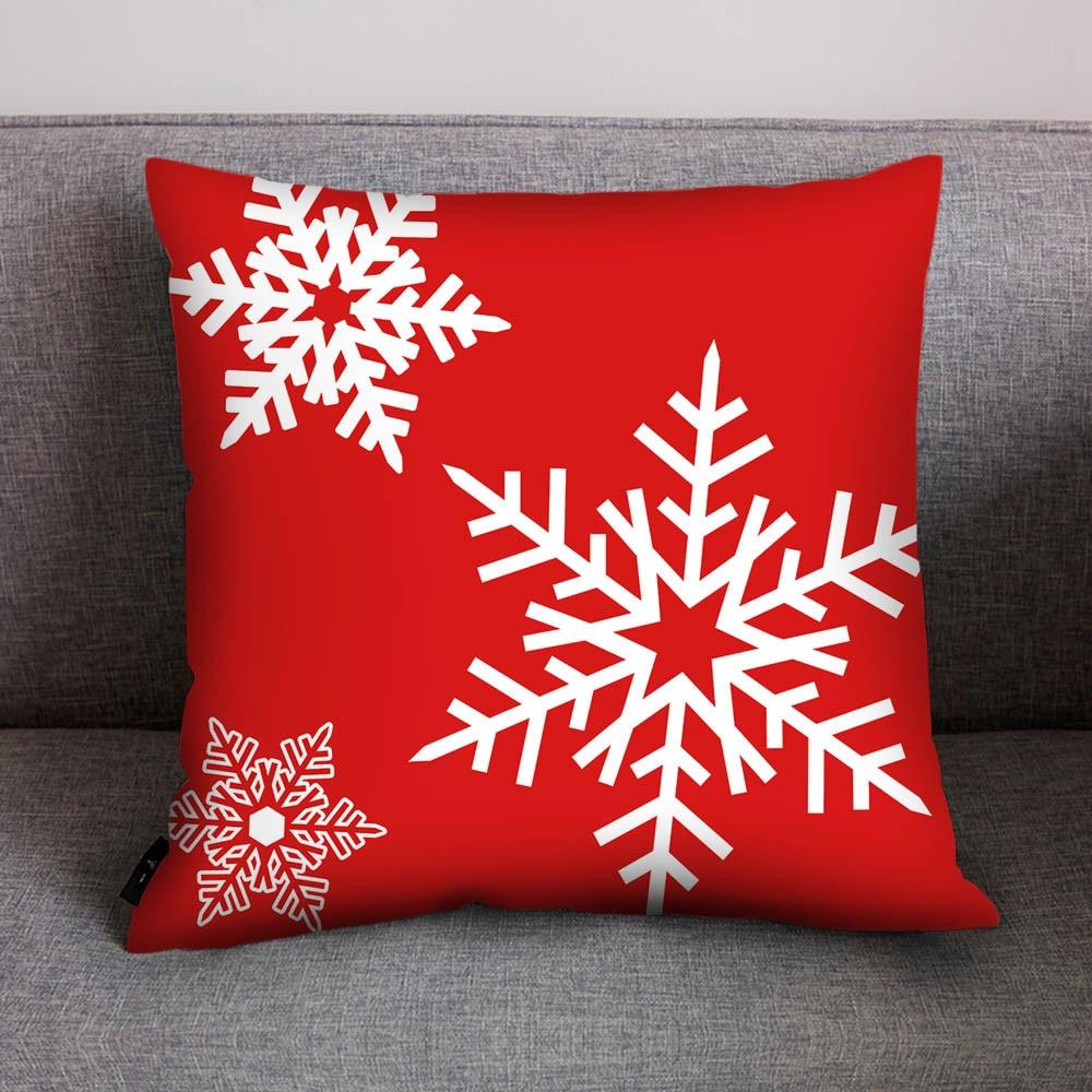 square Merry Christmas Decorative Pillowcases Polyester Christmas Throw Pillow Case Cover Santa Claus  Pillowcase наволочка hot