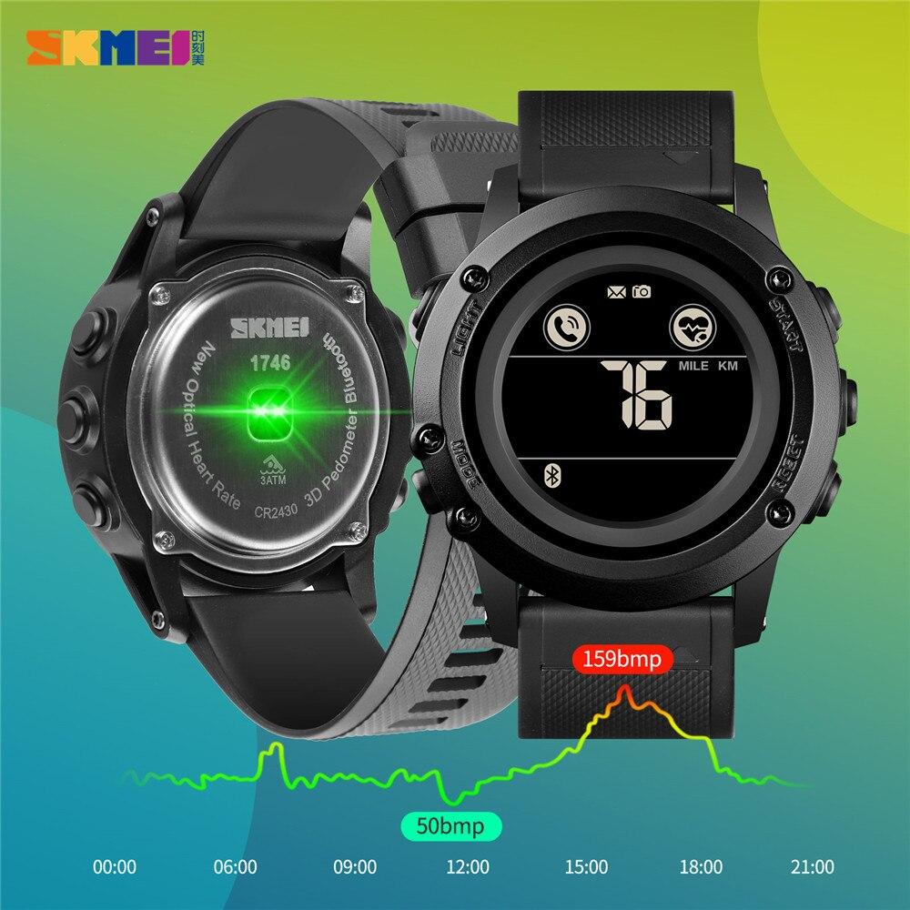 Digital à Prova Relógio de Pulso Skmei Relógio Dwaterproof Água Masculino Militar Bluetooth Pedômetro Movimento