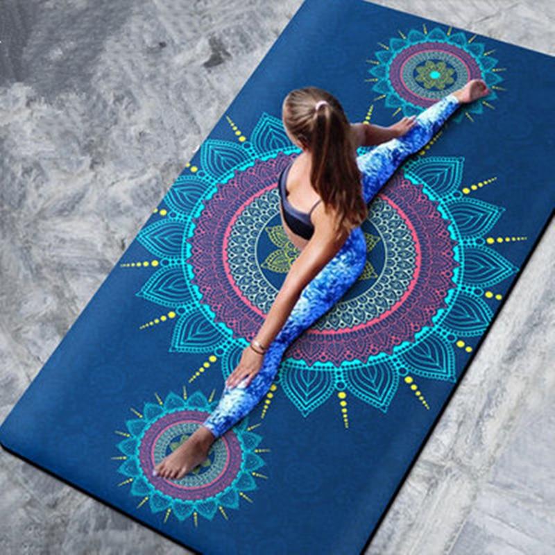 """72 """"x 39"""" x 8 мм Большой Размеры нескользящий коврик для йоги из натуральной замшевой кожи TPE быстрое высыхание Фитнес гимнастика пилатес коврик для медитации Коврики для йоги    АлиЭкспресс"""