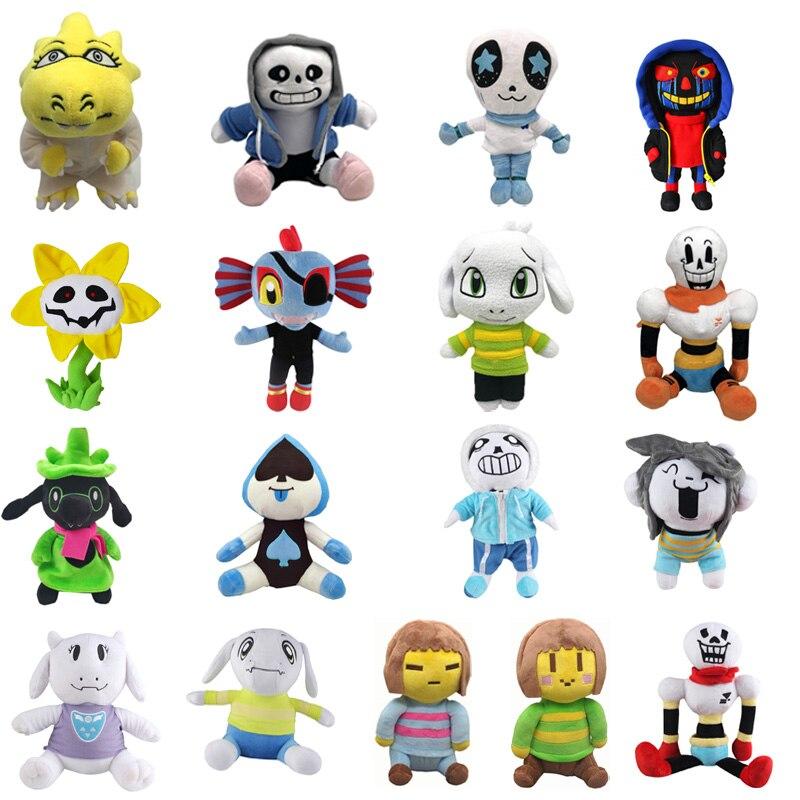 1 pçs 20-35cm undertale brinquedo de pelúcia undertale sans papyrus frisk chara temmie pelúcia boneca brinquedos para crianças crianças presentes